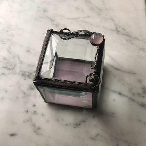 Beveled glass trinket box